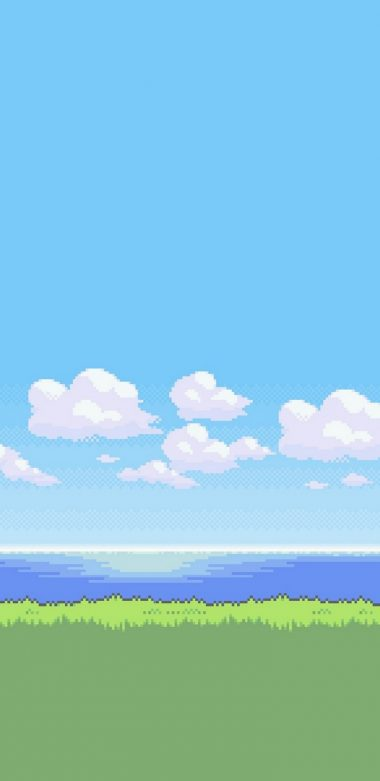 8 Bit Nature Lu Wallpaper 720x1480 380x781