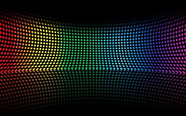 Abstract Multicolor Circles Rainbows Wallpaper 960x600 768x480