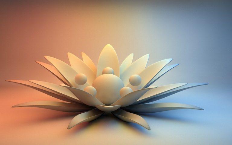 Abstract Petals Water Lily Wallpaper 960x600 768x480