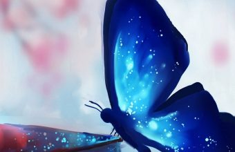 Art Chibionpu Butterfly Books Wallpaper 720x1520 340x220