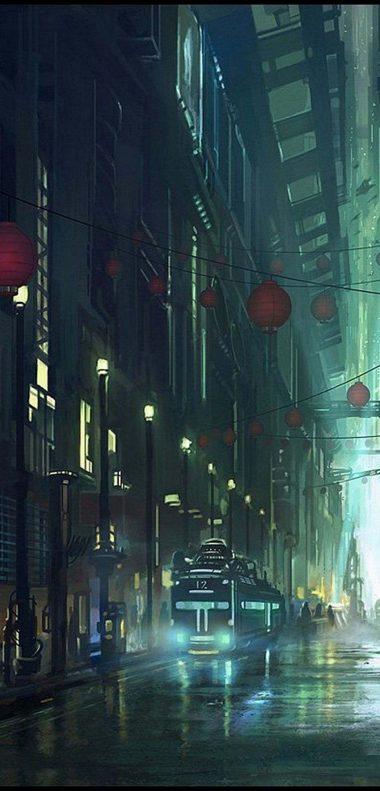 Artistic Night Wallpaper 1080x2248 380x791