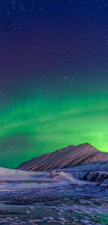 Aurora Borealis Winter Wallpaper 1080x2248 380x791