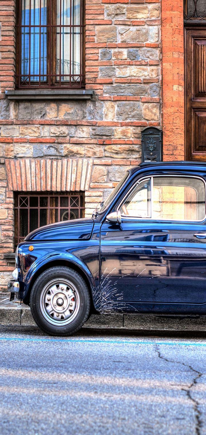 Auto Mini Retro Side View Wallpaper 720x1520