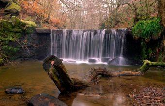 Autumn Forest Waterfall Wallpaper 800x480 340x220