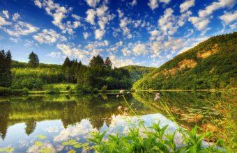 Beautiful Mountain Lake Wallpaper 800x480 340x220
