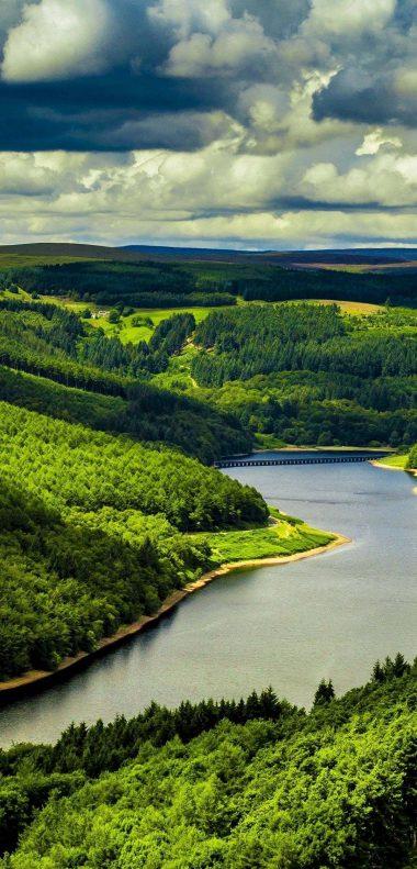 Beautiful River Mountains Wallpaper 1080x2248 380x791