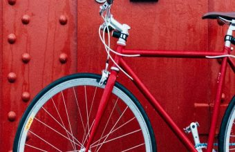 Bicycle Red Wall Wallpaper 720x1520 340x220