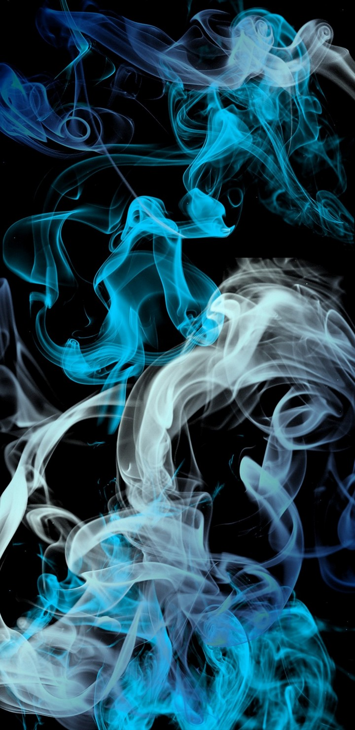 Blue Grey Smoke Wallpaper