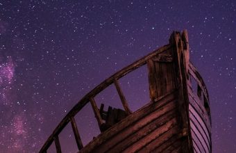 Boat Starry Sky Night Wallpaper 720x1520 340x220