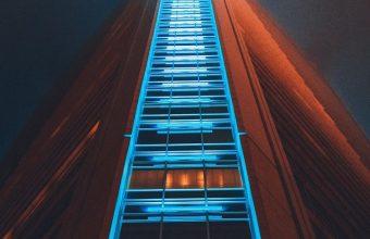Building Skyscraper Structure Night Wallpaper 720x1520 340x220