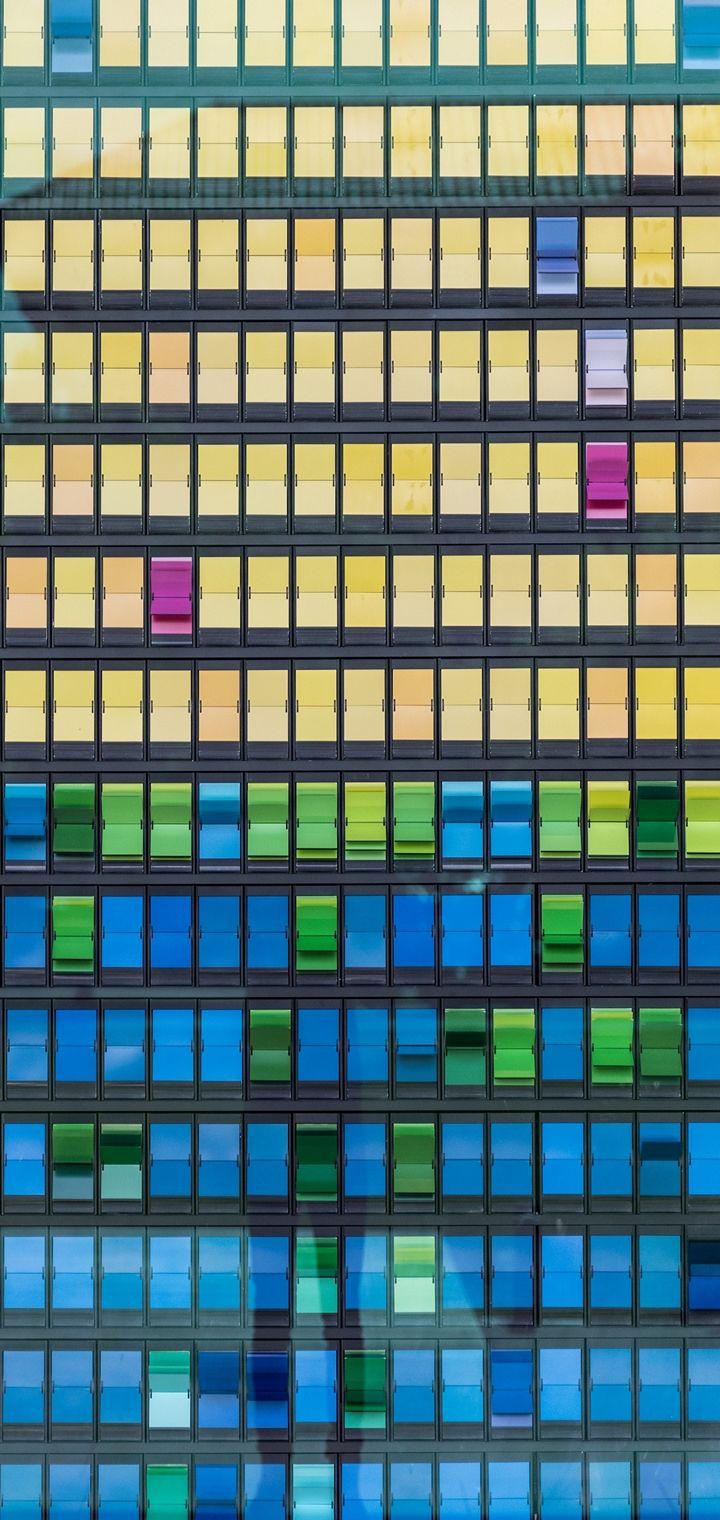 Buildings Facade Windows Wallpaper 720x1520