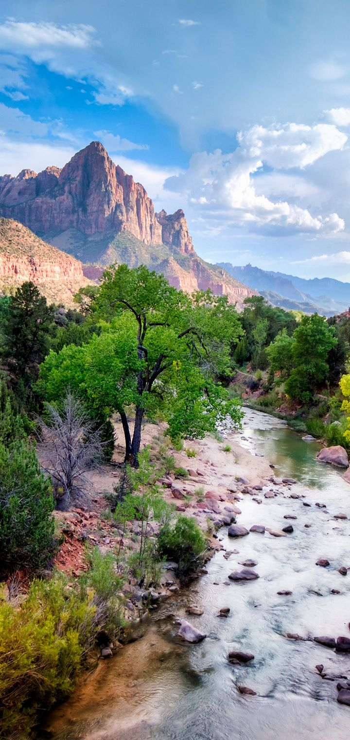 Canyon USA River Nationalpark Wallpaper 720x1520