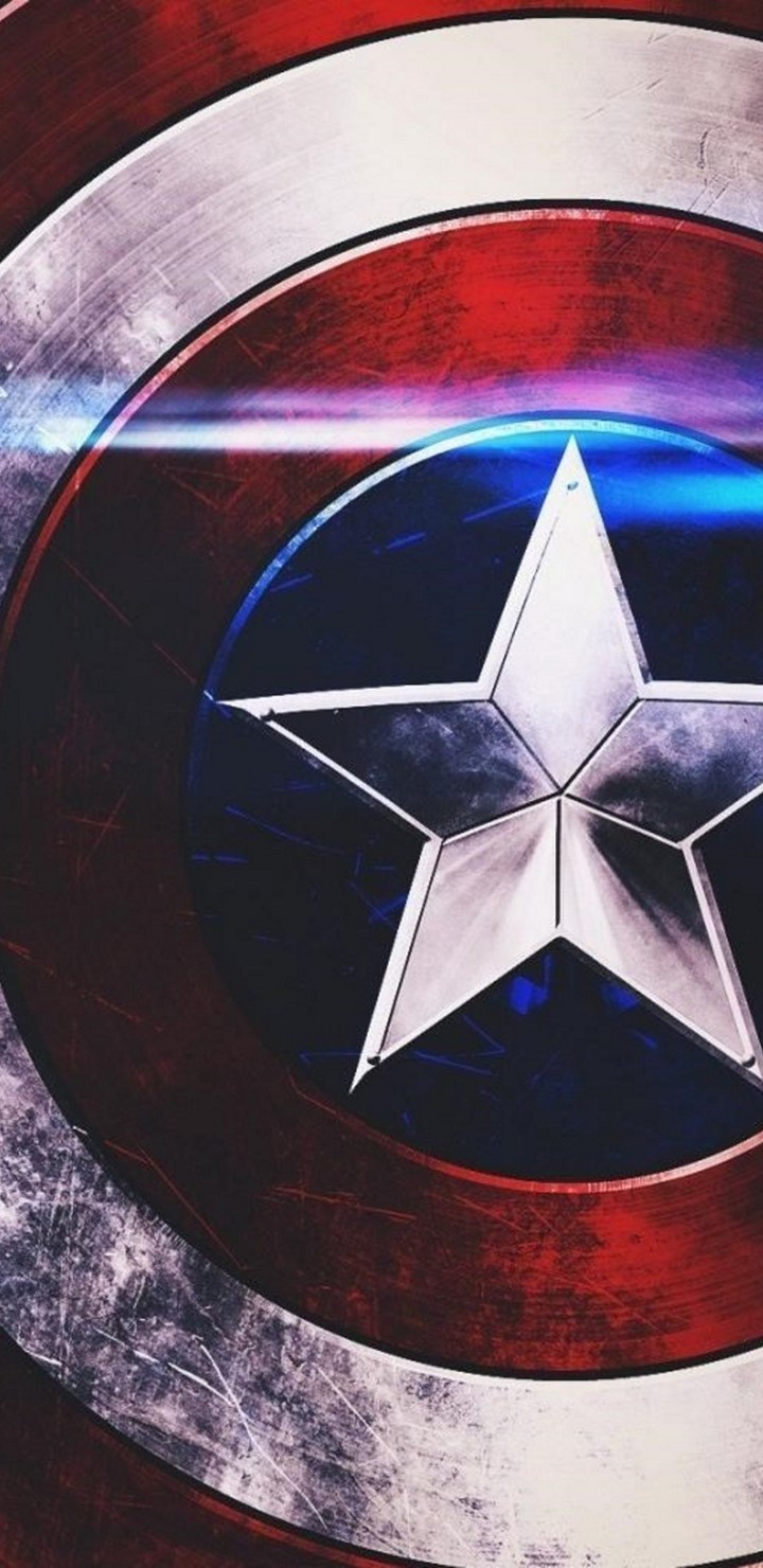 Captain America Shield Image Wallpaper