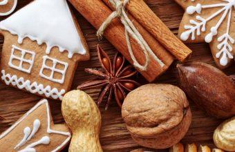 Cinnamon Nuts Cookies Orange Fruit Food Wallpaper 720x1520 340x220