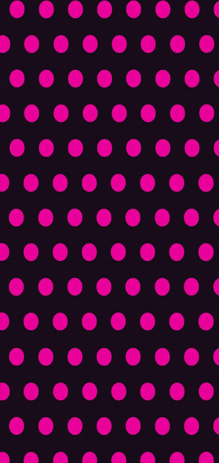 Circles Art Pink Black Wallpaper