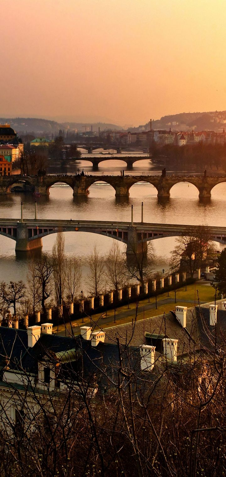 Cityscapes Old Czech Wallpaper 720x1520