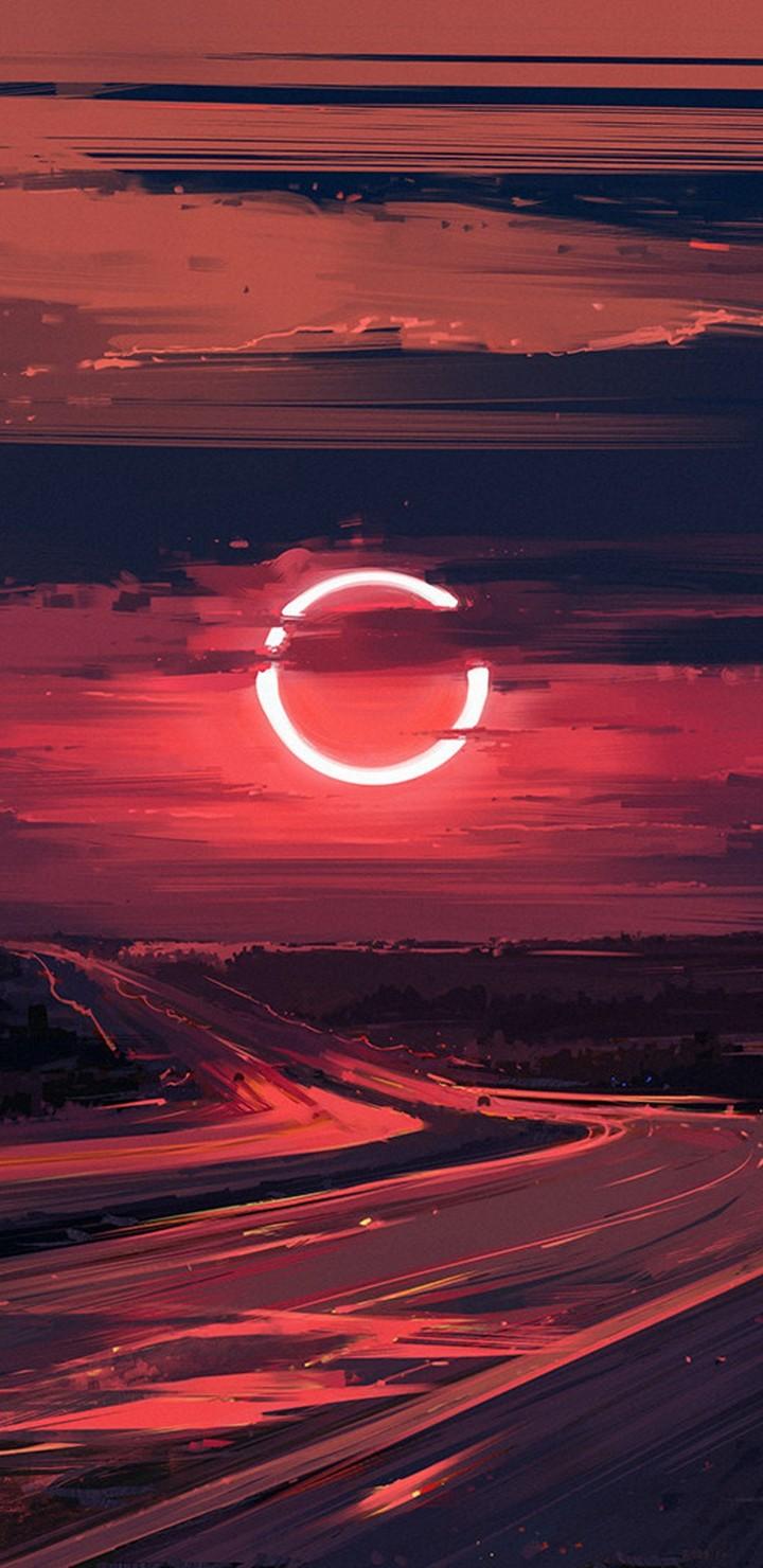 Cloud Eclipse Evening Moon Ut Wallpaper