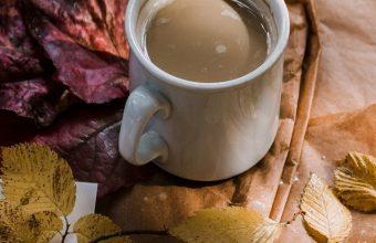 Coffee Autumn Hat Foliage Wallpaper 720x1520 340x220