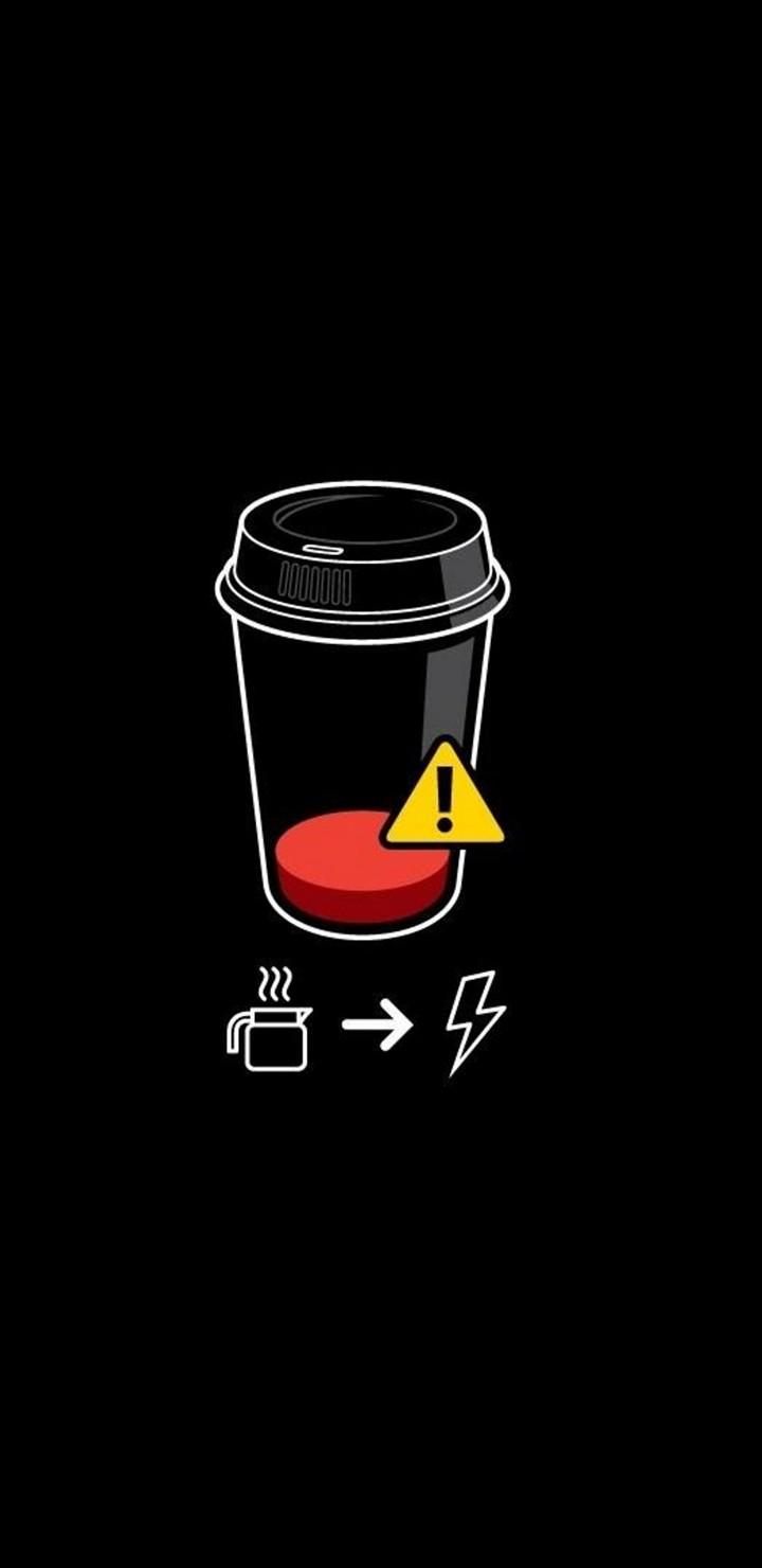 Coffee Battery Minimalism Wallpaper