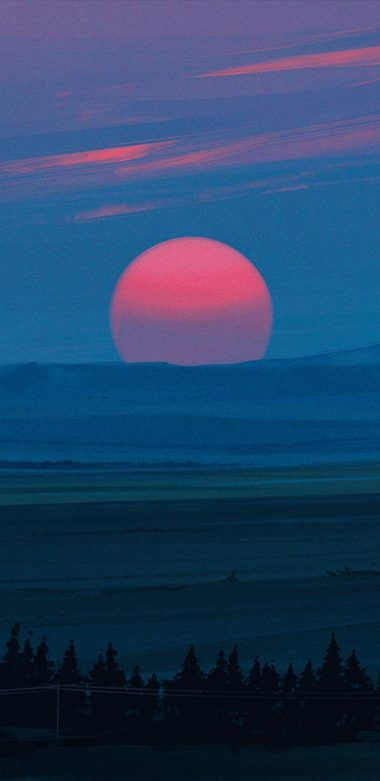 Cold Red Light Sunset Kg Wallpaper 720x1480 380x781