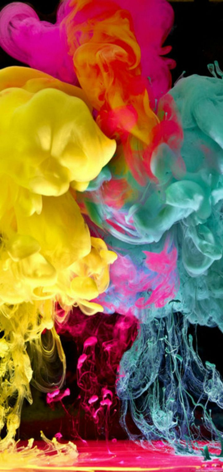 Cool Colorful Smoke Wallpaper 720x1520