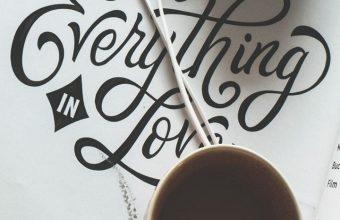 Cup Coffee Headphones Inscription Wallpaper 720x1520 340x220