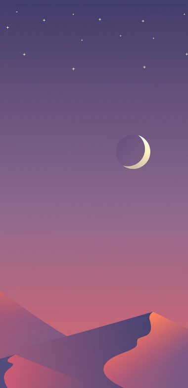 Desert Nights Moon 8n Wallpaper 720x1480 380x781