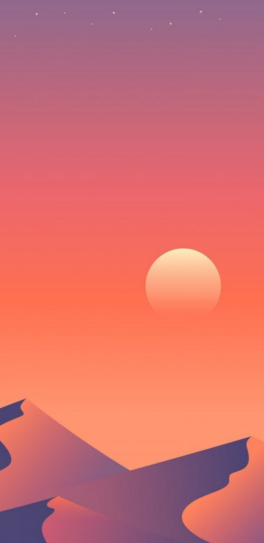 Desert Sun Day Minimalism 1a Wallpaper 720x1480 380x781