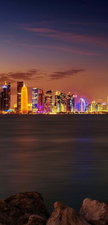 Doha City Wallpaper 1080x2248 380x791