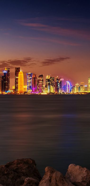 Doha City Wallpaper 720x1480 380x781