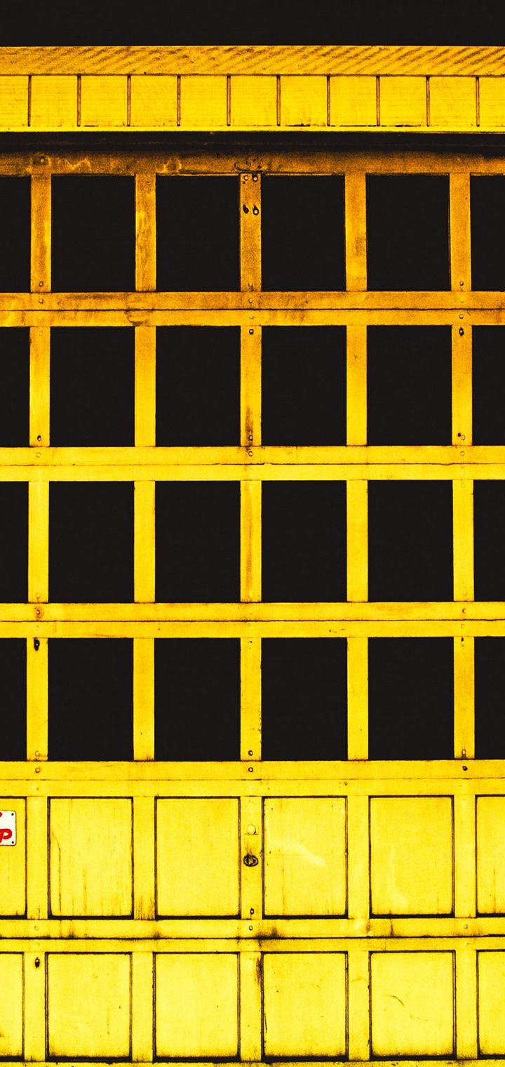Door Yellow Window Wallpaper 720x1520