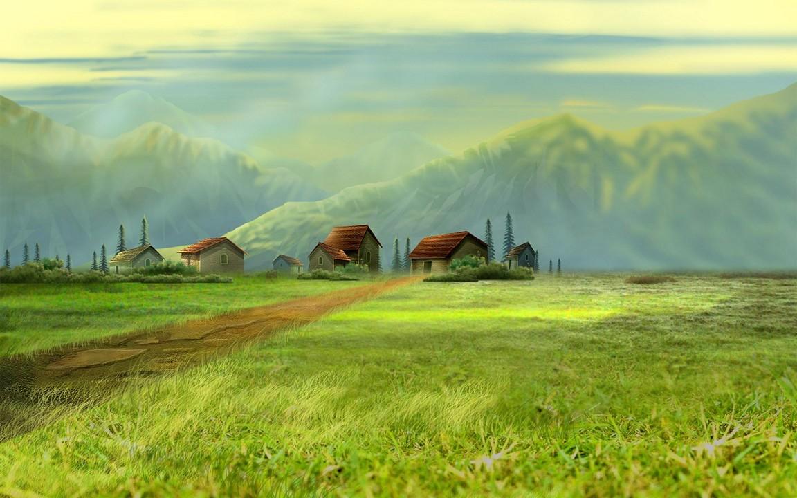 Dream Village Wallpaper