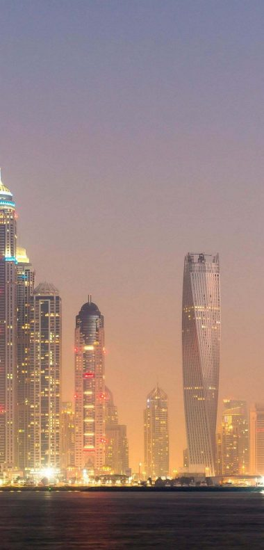 Dubai Lights Wallpaper 1080x2248 380x791