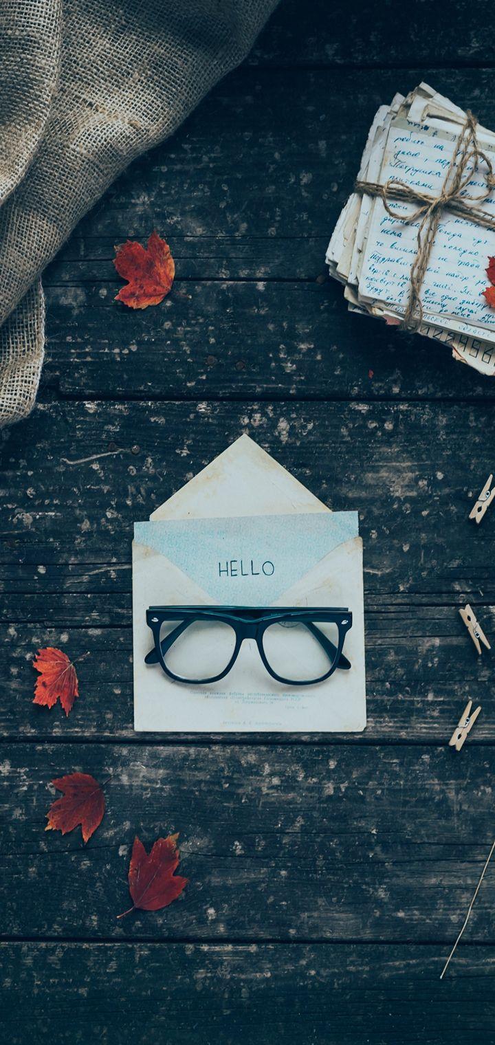 Envelope Letters Glasses Wallpaper 720x1520