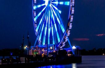 Ferris Wheel Night Shore Wallpaper 720x1520 340x220