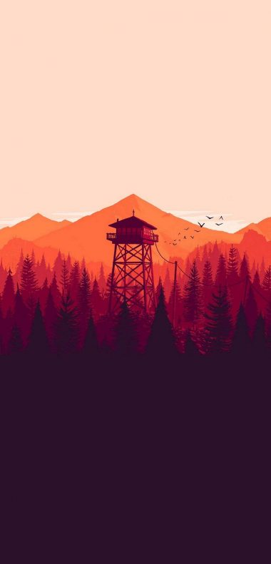 Firewatch Wallpaper 1080x2248 380x791