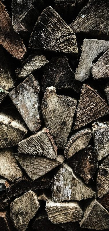 Firewood Texture Wooden Wallpaper 720x1520 380x802