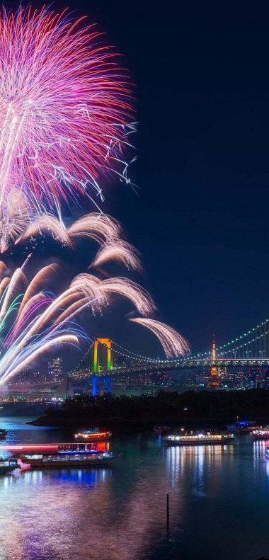 Fireworks Wallpaper 1080x2248 380x791