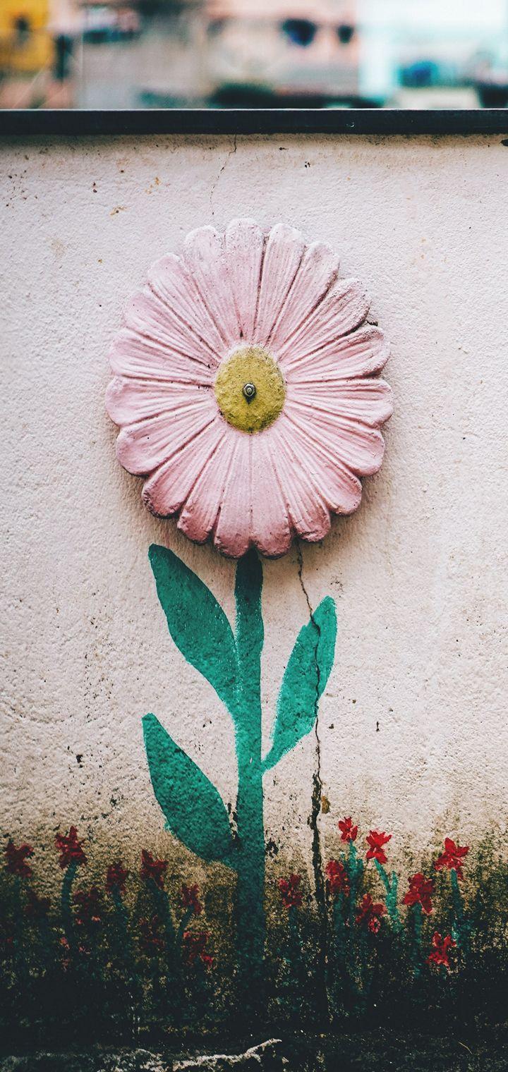 Flower Wall Art Wallpaper 720x1520