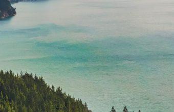 Forest Lake Landscape Mountain Wallpaper 720x1520 340x220
