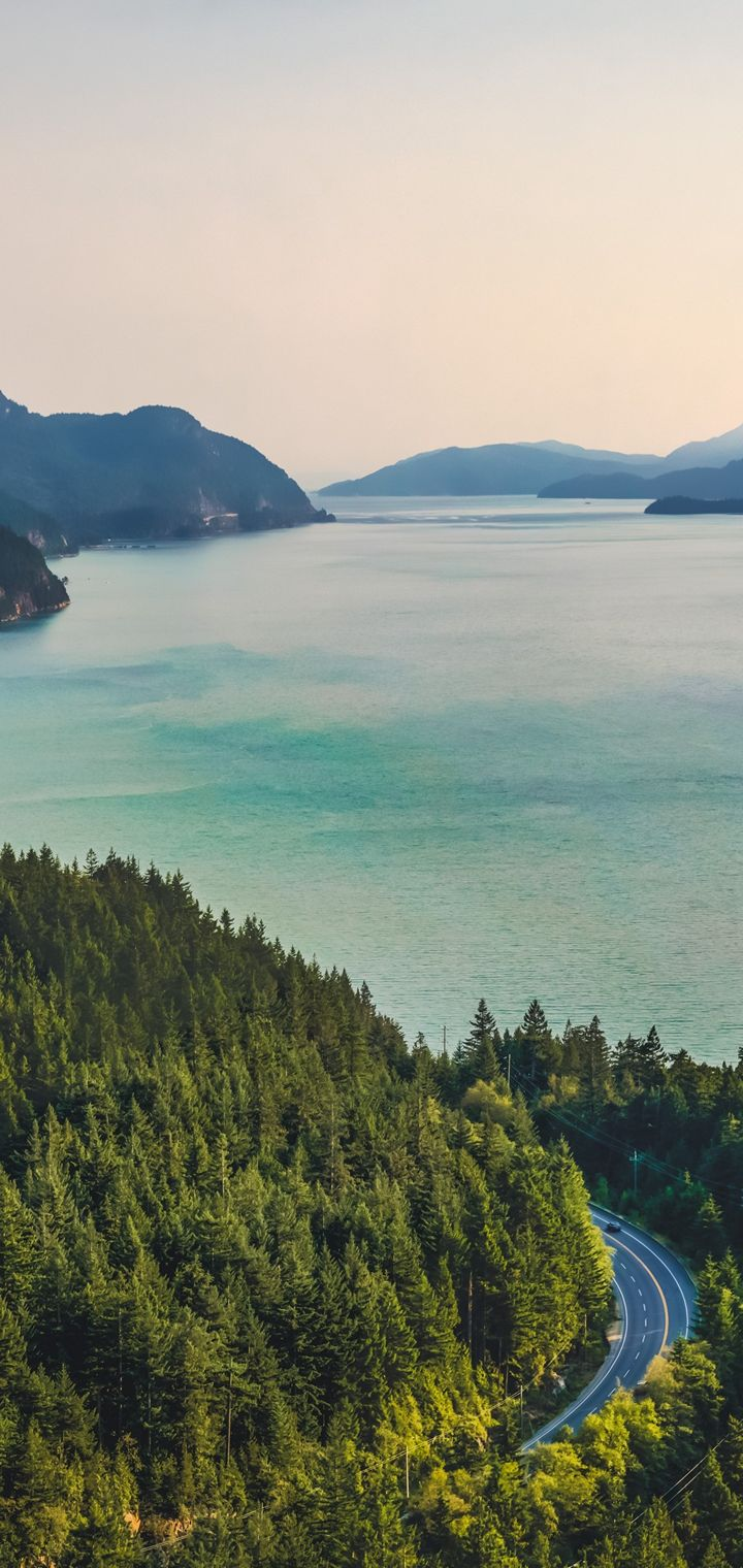 Forest Lake Landscape Mountain Wallpaper 720x1520