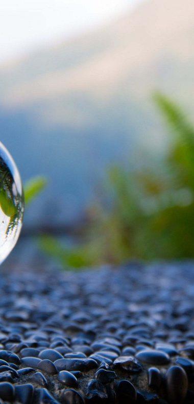 Glass Ball Reflection Wallpaper 1080x2248 380x791