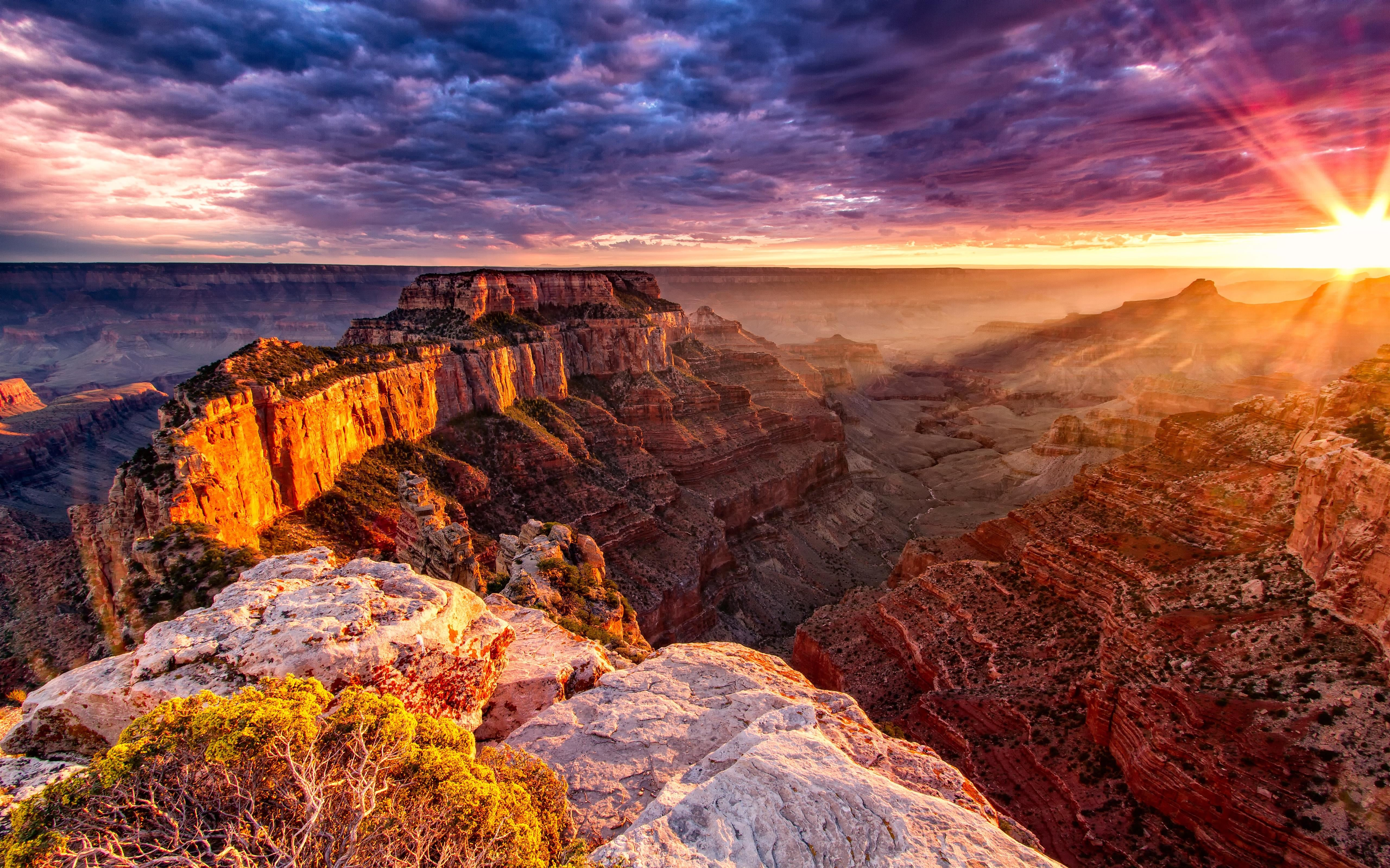 Grand Canyon In Usa Nature Hd Wallpaper 5120x3200