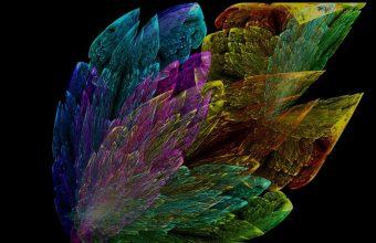 Leaves Colorful Smoke Wallpaper 960x600 340x220