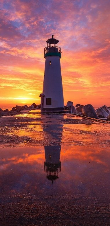 Lighthouse At Sunsrise Fi Wallpaper 720x1480 380x781