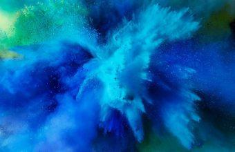 Mac Os Sierra Color Splash Blue Hd Wallpaper 720x1480 340x220