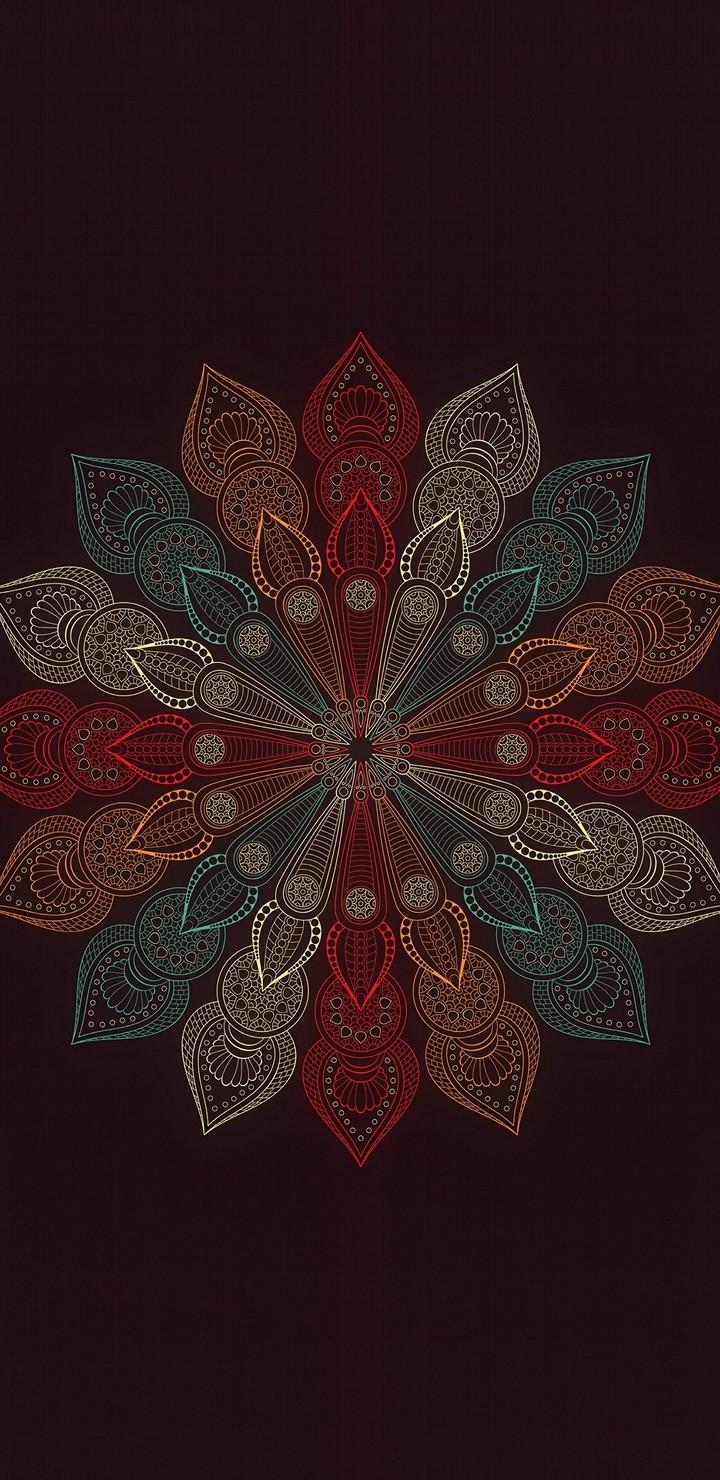 Mandala Flower Wallpaper 720x1480