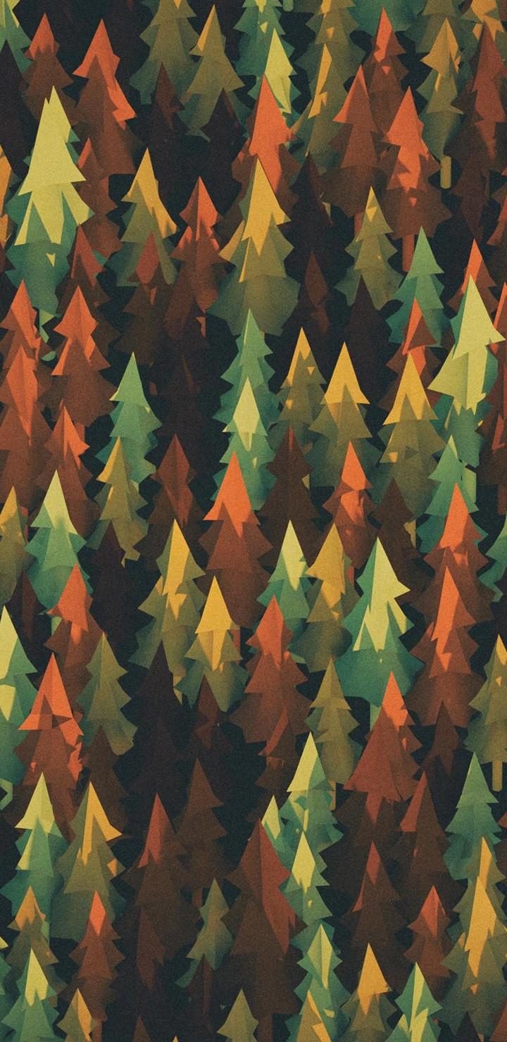 Material Design Forest Lu Wallpaper 720x1480
