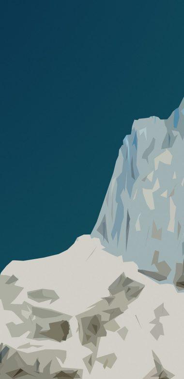 Material Mountain Wallpaper 720x1480 380x781