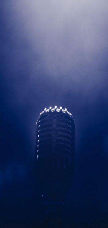 Microphone Smoke Blackout Wallpaper 720x1520 380x802